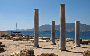 Figure 2. Columns from the ancient ruined city of Nora, Sardinia